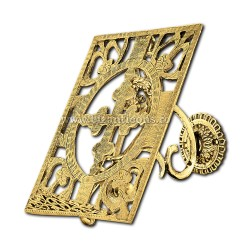 Suport carte - bronz aurit X46-377