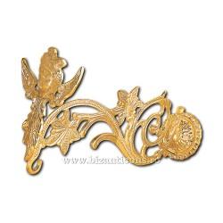 Suport candela - bronz aurit - 28 cm
