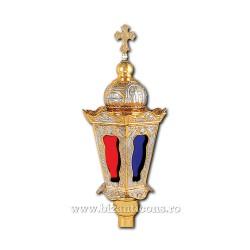 Felinar procesiune - mediu - aurit si argintat X75-686 / 66-471