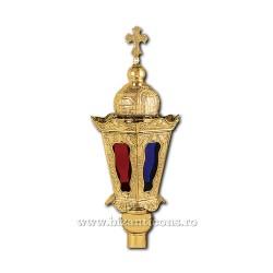 Felinar procesiune - mic - aurit X75-691 / 66-476