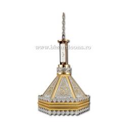 Fanar - lampa strana - aurit si argintat - gravat X76-696