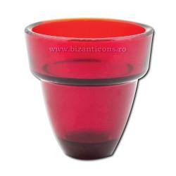 Pahar candela rosu 8x8