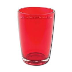 Pahar candela rosu 6,5x9,5