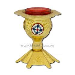 Candela masa bizantina - aurita - medalion email