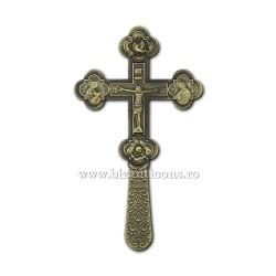 CRUCE Bin. 21,5cm - bronz - medalioane icoana D101-8Br
