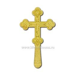 CRUCE Bin. 21,5cm - aurie - medalioane icoana D101-8Au