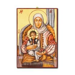 Icoana pictata - Maica Domnului in costum traditional - 60x40cm