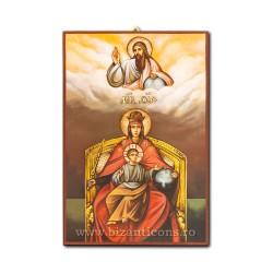Icoana pictata - Maica Domnului pe tron - 60x40cm