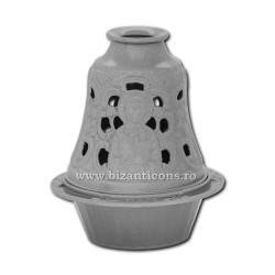 Candela antimoniu 13cm - argintiu