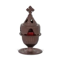 Candela antimoniu pahar metal 18cm - culoare cupru