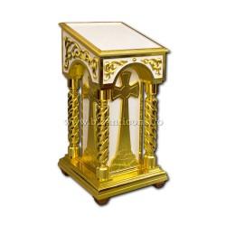 Το τέμπλο είναι ξύλινο - λευκό-χρυσό-Z 182-40