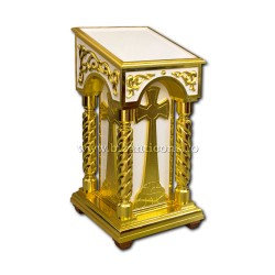 Iconostas lemn - alb aurit Z 182-40