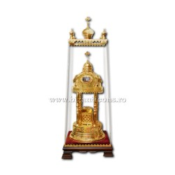 Monstrance gold plated - zirconia stones AT the 101-90