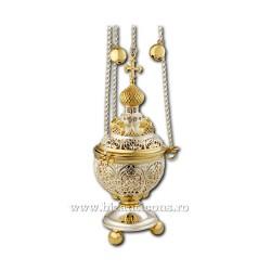 Кадила traforata - установлено золотое изваяние, и argintata AT 107-81