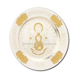 Πλάκα από ασήμι και χρυσό που καλύπτεται - η Μητέρα του Θεού, ΣΤΟ 248-15