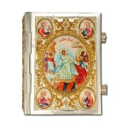Евангелие, иконы, письма установлено золотое изваяние, и argintata AT 304-21