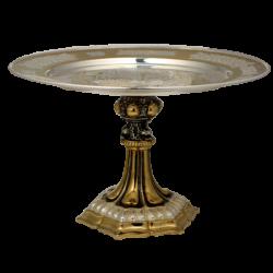Δίσκος βάσης. - χρυσό και ασήμι - ακάνθου ΣΕ 323-12
