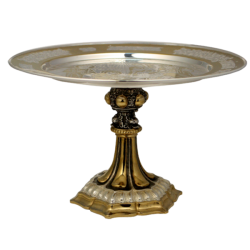 Disc base. - gold and silver - acanthus AT 323-12