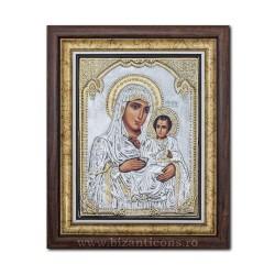 Το εικονίδιο με το ασημωμένο Μητέρα του Κυρίου στην Ιερουσαλήμ 36x44cm K700-006
