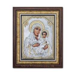 The icon with silvered Mother of the Lord in Jerusalem 36x44cm K700-006