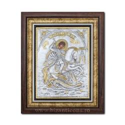 Icoana argintata - Sfantul Gheorghe 36x44cm K700-010