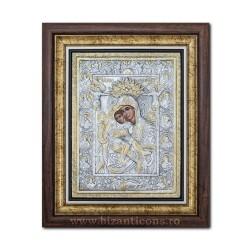 Icoana argintata - Maica Domnului Axionita 36x44cm K700-022