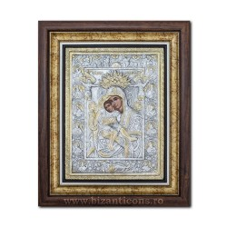 The icon with silvered our lady Axionita 36x44cm K700-022