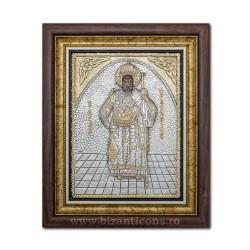 Icoana argintata - Sfantul Nectarie din Eghina 36x44cm K700-114