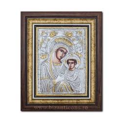 Icoana argintata - Maica Domnului Imparateasa - Anagheni 36x44cm K700-403