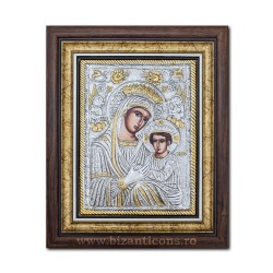 The icon with silvered our lady Queen - Anagheni 36x44cm K700-403