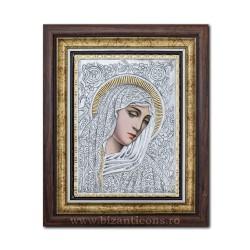Το εικονίδιο με το ασημωμένο παναγίας με δάκρυα - Filimeni 36x44cm K700-404