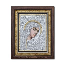 Icoana argintata - Maica Domnului cu lacrimi - Filimeni 36x44cm K700-404