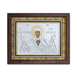 The icon with silvered our lady Queen of Heaven - Platitera 36x44cm K700-409