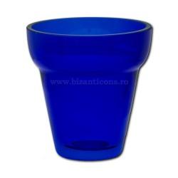 Pahar rubin No1 - albastru - 7,5x7,7cm