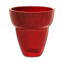 39-111R pahar rubin No2 - ROSU - 8,9x9,5cm 6/set 48/bax