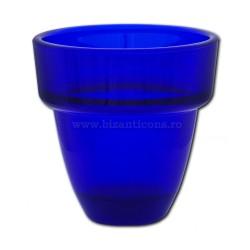 39-201 glass lamp BLUE-medium - solid 8x8 6/set, 48/box