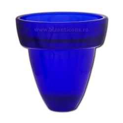 39-206 pahar candela ALBASTRU mare - masiv 9,5X10 6/set 24/bax
