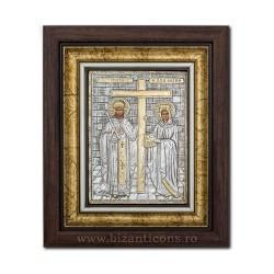 Το ΕΙΚΟΝΊΔΙΟ του πλαισίου Ag925 st. Αγίου Κωνσταντίνου και Έλενα, 27x32 K701-011