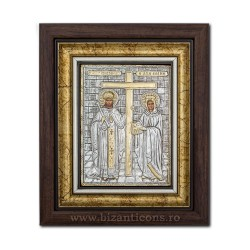 ИКОНА в раме Ag925 Св. Константин и Елена, 27x32 K701-011