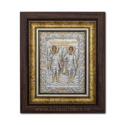 The ICON of the frame Ag925 of ST. Michael, and Gabriel, 27x32 K701-033