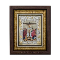 The ICON of the frame Ag925 Crucifixion 27x32 K701-202