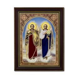 Icoana vesmant - rama 30x40 Sf Mihail si Gavril IT34-033