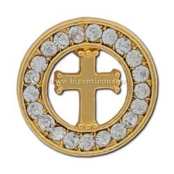 6-207 insigna Cruce + pietre 12/set