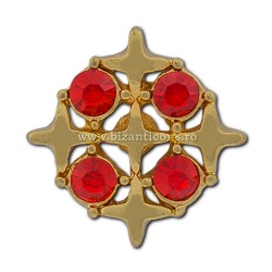 6-208 insigna 5 Cruci + pietre 12/set