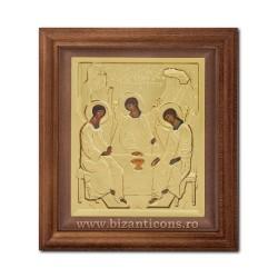 ЗНАЧОК из металла в раме, 15x17 Святой Троицы SFR505-215