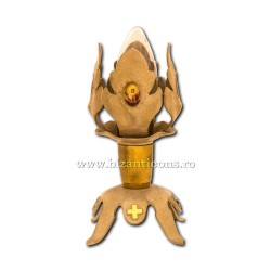 Candela metal frunza - bec C PPA4B