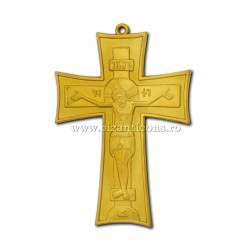 100-10Au Креста, груди, Золотисто - 7,5x11 100/коробка