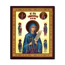1852-146 Икона русской плиты мдф, 10x12 Св Прп Параскевы