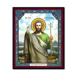 1852-724 το Εικονίδιο της ρωσικής mdf, 10x12 Αγίου Ιωάννη του Βαπτιστή