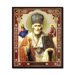 1861-009 the Icon of the Russian fiberboard 20x24 St. Nicholas
